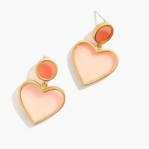Valentine's Heart Earrings with packaging